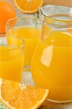 Preview iPhone wallpaper Orange juice, fruit drinks