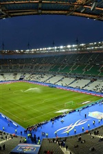 Paris, stadium at night, France