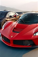 Red and black supercars speed, McLaren and Ferrari LaFerrari