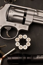 Preview iPhone wallpaper Revolver, Smith Wesson, weapon