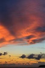 Sa Kaeo, Thailand, dawn, sea, clouds