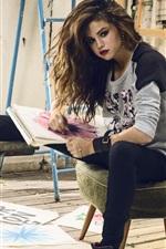 Preview iPhone wallpaper Selena Gomez 14