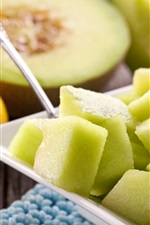 Preview iPhone wallpaper Slices of melon, lemon, fruit dessert