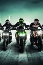Preview iPhone wallpaper Sports, motorcycle race