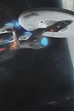Preview iPhone wallpaper Star Trek Into Darkness, spaceship