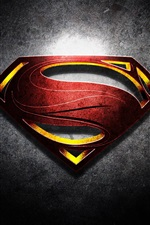 Preview iPhone wallpaper Superman logo