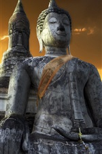 Preview iPhone wallpaper Temple, buddha, Sukhothai, Thailand