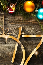 Preview iPhone wallpaper 2017 New Year and Christmas, decorations, toys, balls