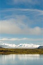 Vorschau des iPhone Hintergrundbilder Alaska, Wasser Reflexion, Berge, See, Nordamerika
