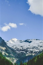 Preview iPhone wallpaper Alps mountains, snow, trees