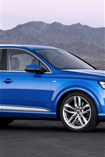Preview iPhone wallpaper Audi crossover blue car side view