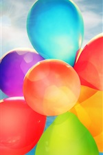 Preview iPhone wallpaper Balloons, colorful colors, sky