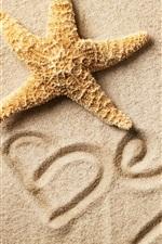 iPhone обои Пляж, песок, морская звезда