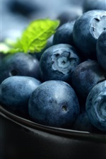 Preview iPhone wallpaper Blueberries macro photography, fruit