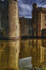 Preview iPhone wallpaper Bodiam Castle, East Sussex, England, medieval, lake