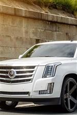 미리보기 iPhone 배경 화면 Cadillac 사다리꼴의 하얀 차 정면보기