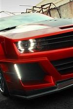 미리보기 iPhone 배경 화면 시보레 카마로 빨간색 supercar 전면보기