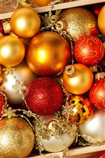 Preview iPhone wallpaper Christmas balls, holiday, decorations, New Year