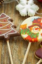iPhone обои Рождество, конфеты, продукты питания, снежинки