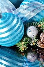 Natal, decoração, galhos spruce, espelho reflexão, fita