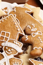 Preview iPhone wallpaper Christmas food, cookies