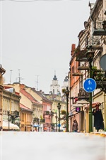 Preview iPhone wallpaper City, street, houses, Lithuania, Kaunas