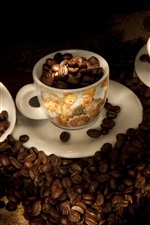 Preview iPhone wallpaper Coffee beans, cups, light