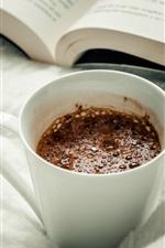 Vorschau des iPhone Hintergrundbilder Kaffee, Becher, Buch
