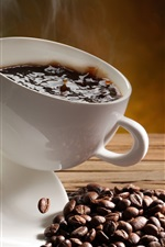 Coffee problems, cup, splash