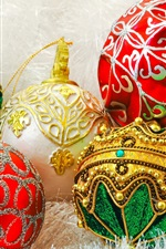 Preview iPhone wallpaper Colorful Christmas balls, decoration, New Year