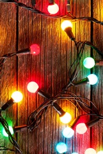 Preview iPhone wallpaper Colorful festival lights, light bulb, decoration