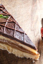 Preview iPhone wallpaper Dessert, cake, chocolate, strawberry