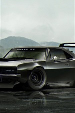 Dodge Charger black classic car