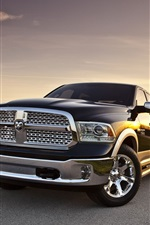 Preview iPhone wallpaper Dodge Ram 1500 pickup, road