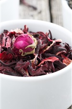 Preview iPhone wallpaper Dry tea, rose petals