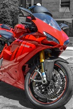 Preview iPhone wallpaper Ducati 1098S red motorcycle at street