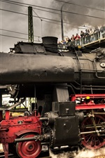 Preview iPhone wallpaper Germany, old train, locomotive