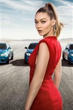 Gigi Hadid, BMW M2 blue cars