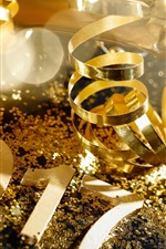 Preview iPhone wallpaper Golden style 2017, Happy New Year, champagne