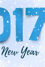 Preview iPhone wallpaper Happy New Year 2017, snowflakes