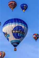 Preview iPhone wallpaper Hot air balloons, blue sky