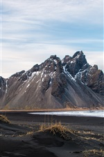 Preview iPhone wallpaper Iceland, mountains, coast, sea