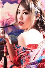 Menina japonesa, fumando