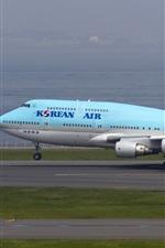 미리보기 iPhone 배경 화면 대한 항공, 보잉 747 비행기