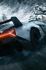 Preview iPhone wallpaper Lamborghini Veneno supercar rear view, Need for Speed
