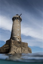 Lighthouse, sea, sky