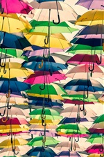 Preview iPhone wallpaper Lots of colorful umbrellas