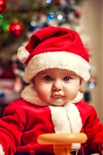 Preview iPhone wallpaper Lovely and beautiful Christmas child
