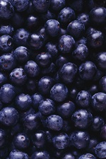 Preview iPhone wallpaper Many blueberries