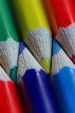 Preview iPhone wallpaper Many colorful pencils